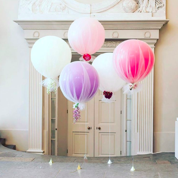 Chic Tulle Balloons for Your Bridal Shower | Arabia Weddings