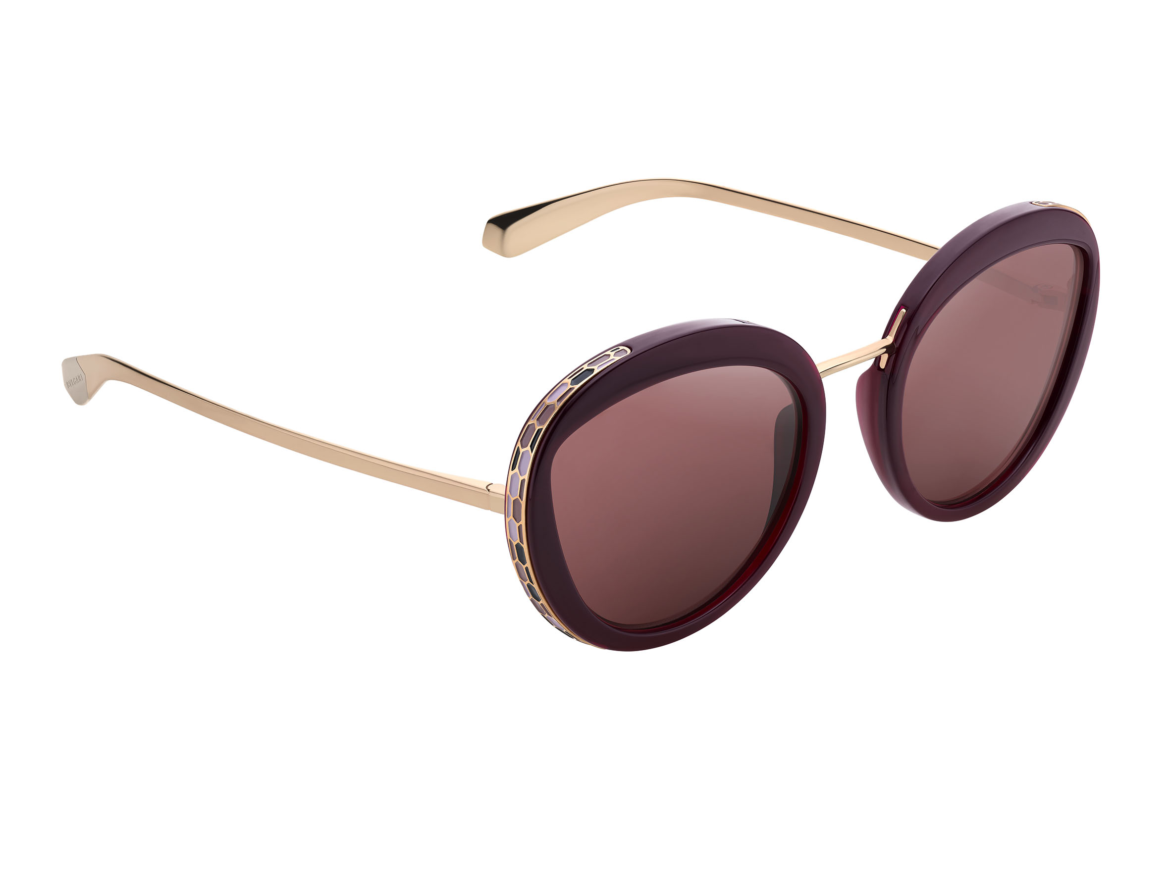 64608d3128e7 ... of the oversized rounded BVLGARI BVLGARI sunglasses, complete with  on-trend oversized round lenses, sets off the crystal decorations while  maintaining ...