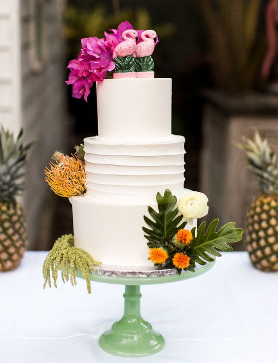 tropical wedding cake ideas beautiful tropical wedding cakes for your summer wedding 21276