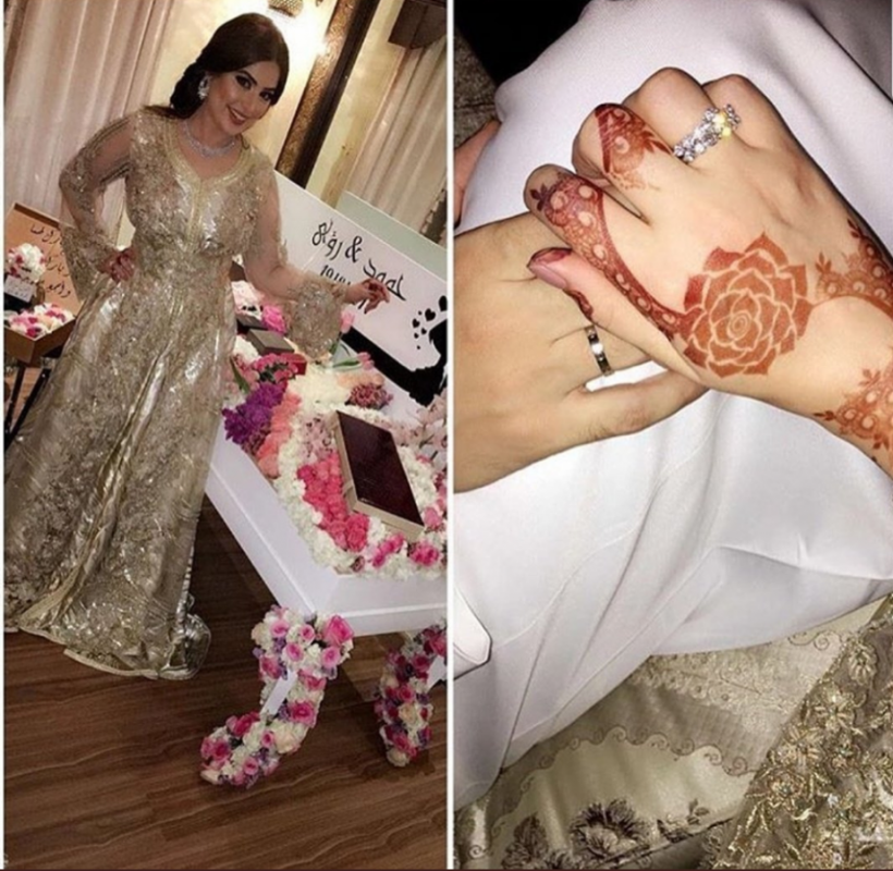 Hamoud Al Fayez And Roaa Al Sabban Get Married Arabia