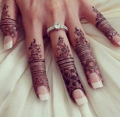 Fingertip Henna Ideas For The Bride Arabia Weddings