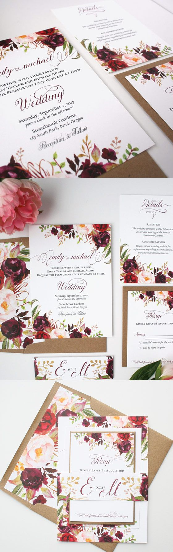 Fall Wedding Invites - Arabia Weddings