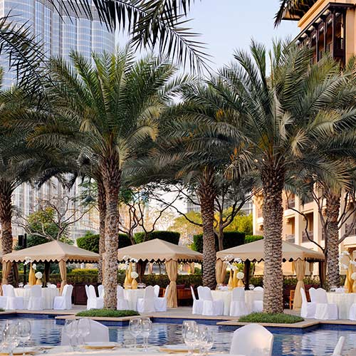 The Pool Area at Palace Downtown Dubai