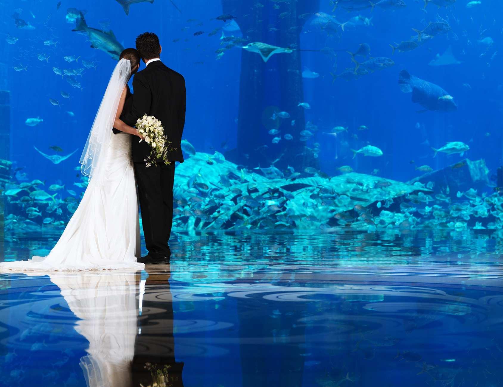 dubai atlantis palm hotel wedding underwater weddings destination ceremony congress bid wins host planning thailand restaurants donia